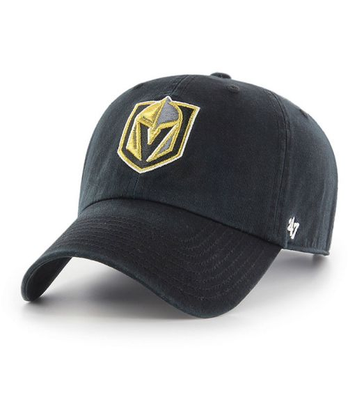 '47 Brand Vegas Golden Knights NHL Clean Up Adjustable Strapback Hat Black