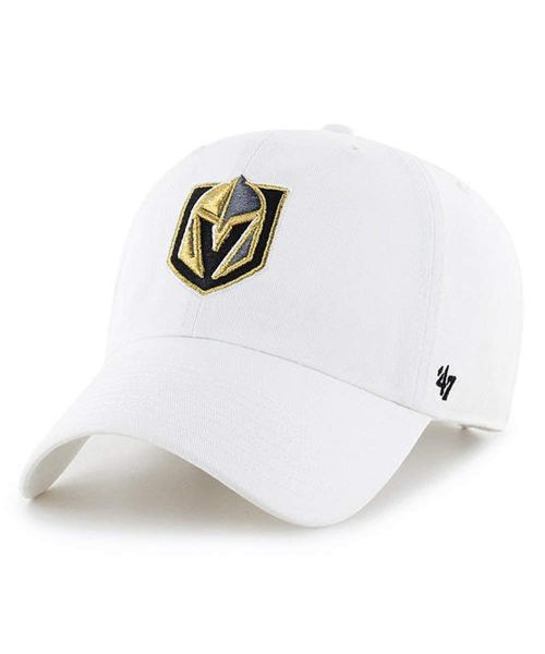 '47 Brand Vegas Golden Knights NHL Clean Up Strapback Hat White