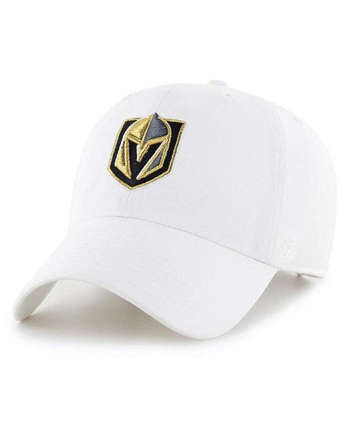 '47 Brand Vegas Golden Knights NHL Clean Up Strapback Hat White White