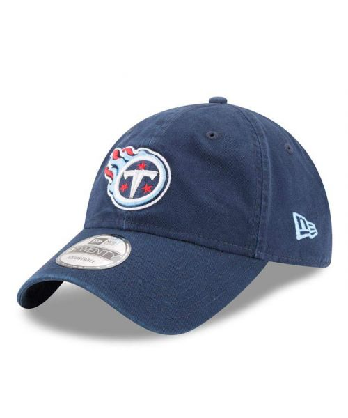New Era Tennessee Titans NFL Core Classic 9TWENTY Adjustable Adult Hat Navy Blue