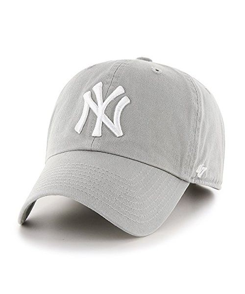 '47 Brand New York Yankees MLB  Clean Up Adjustable  Strapback Hat Gray