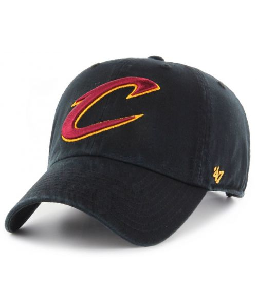 '47 Brand Cleveland Cavaliers NBA Clean Up Strapback Hat Black