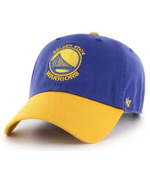 '47 Brand Golden State Warriors NBA Clean Up Strapback Hat Blue Yellow