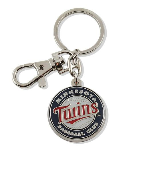 Aminco Minnesota twins Authentic MLB Heavyweight Metal Team Logo Keychain