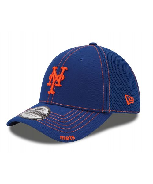 New Era New York Mets MLB Neo 39THIRTY Stretch Fit Adult Hat Blue