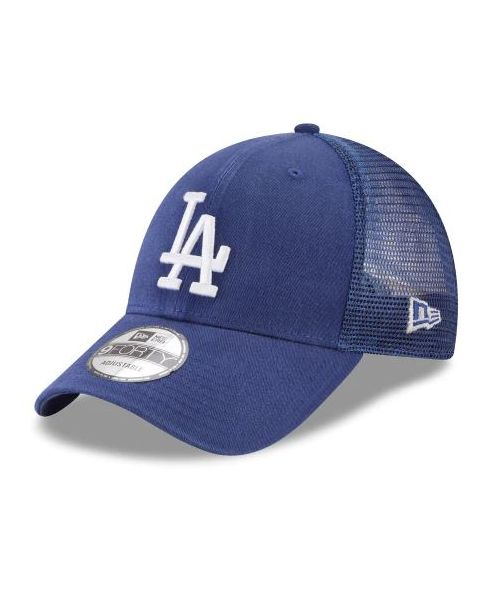 official photos 41db5 b3e90 New Era Los Angeles Dodgers MLB Trucker Mesh 9FORTY Snapback Hat Royal Blue
