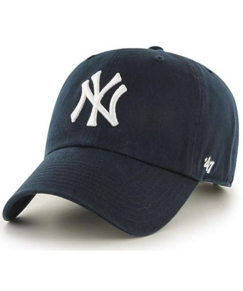 '47 Brand New York Yankees MLB Clean Up Adjustable Strapback Hat Navy Blue