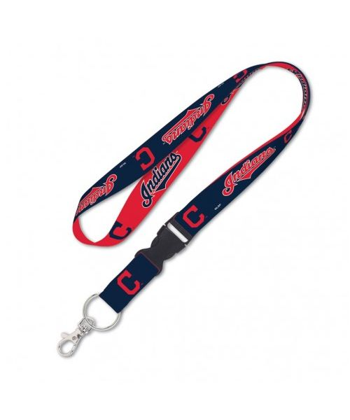 Wincraft Cleveland Indians MLB One Size Lanyard with Detachable Buckle Navy Blue Red