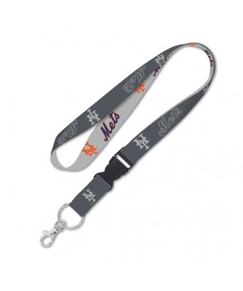 Wincraft New York Mets MLB One Size Lanyard with Detachable Buckle Graphite Gray