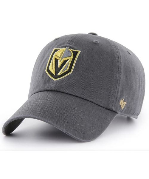 '47 Brand Vegas Golden Knights NHL Clean Up Strapback Hat Graphite