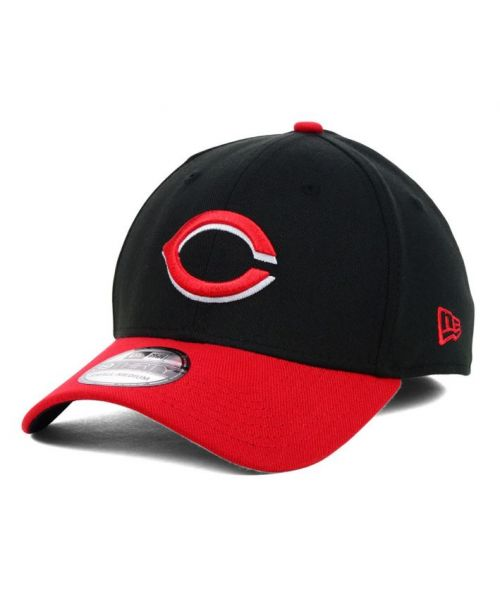 New Era Cincinnati Reds MLB 39THIRTY Stretch Fit Adult Hat Black Red