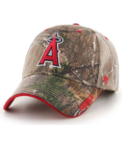 '47 Brand Los Angeles Angels MLB MVP REALTREE Xtra Velcroback Hat Camo Brown