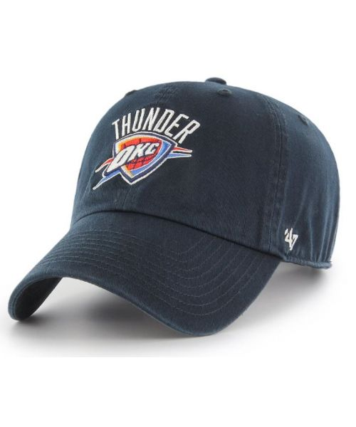 '47 Brand Oklahoma City Thunder NBA Clean Up Strapback Hat Navy Blue