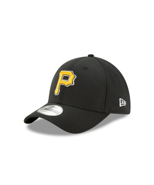 New Era Pittsburgh Pirates MLB Jr Team Classic 39THIRTY Stretch Fit Hat Black