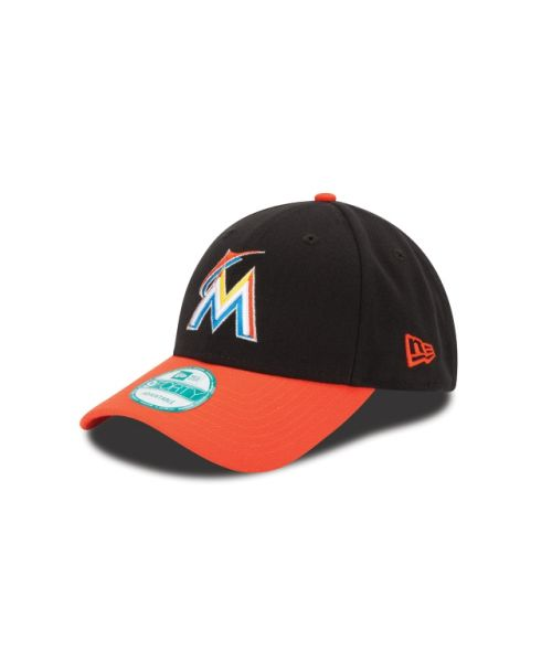 New Era Miami Marlins The League 2TONE 9FORTY Velcroback Adjustable Black Orange Hat