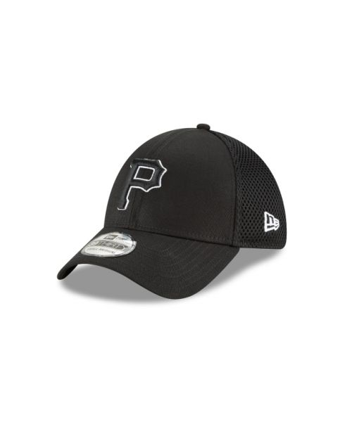 New Era Pittsburgh Pirates Black and White Neo 39THIRTY Stretch Fit Hat