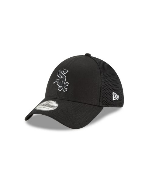 New Era Chicago White Sox Black and White Neo 39THIRTY Stretch Fit Hat