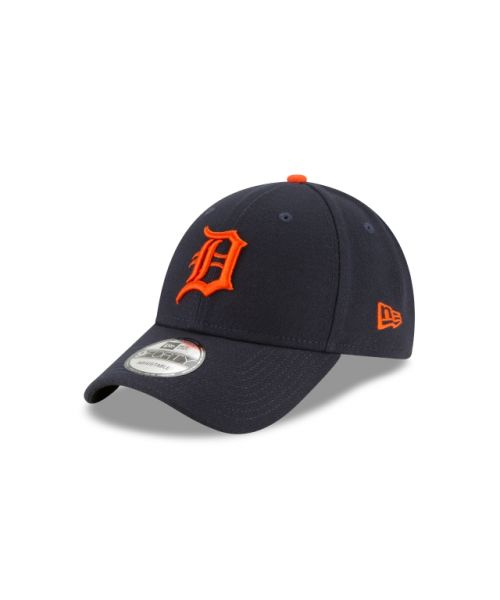 New Era Detroit Tigers MLB The League Road 9FORTY Velcroback Adult Hat Navy Blue