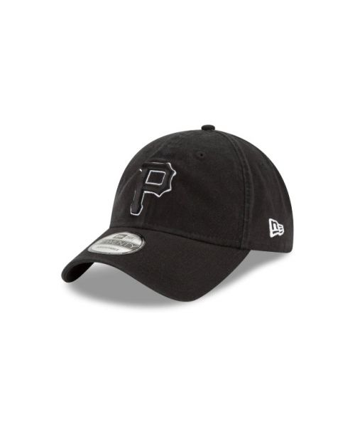 New Era Pittsburgh Pirates MLB Black White Core Classic 9TWENTY Adjustable Strapback Hat
