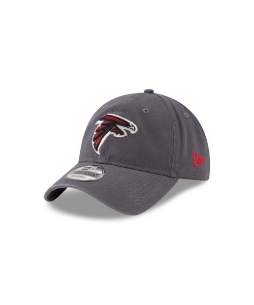 New Era Atlanta Falcons NFL Graphite Core Classic 9TWENTY Adjustable Strapback Hat Graphite