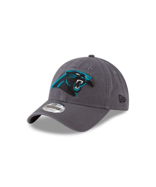New Era Carolina Panthers NFL Graphite Core Classic 9TWENTY Adjustable Strapback Hat Graphite