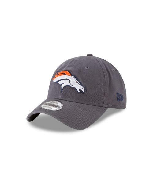 New Era Denver Broncos NFL Graphite Core Classic 9TWENTY Adjustable Strapback Hat Graphite