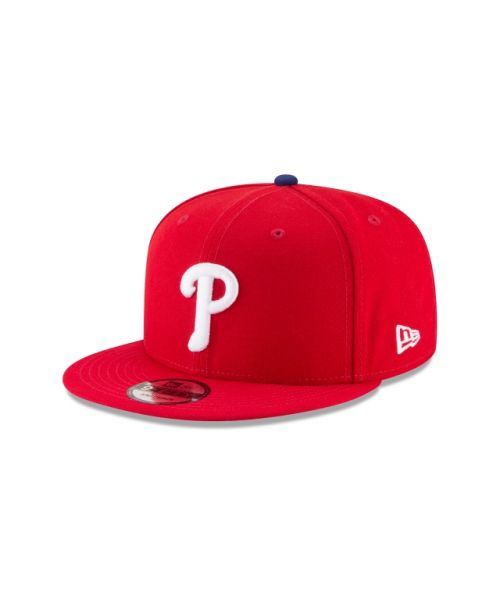 New Era Philadelphia Phillies MLB Official Team Colors Kids 9FIFTY Snapback Hat Red