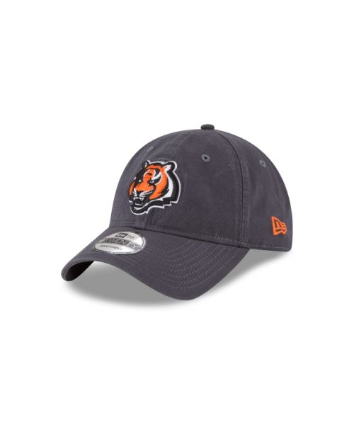 New Era Cincinnati Bengals NFL Graphite Core Classic 9TWENTY Adjustable Strapback Hat Graphite