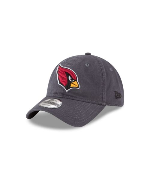 New Era Arizona Cardinals NFL Graphite Core Classic 9TWENTY Adjustable Strapback Hat Graphite