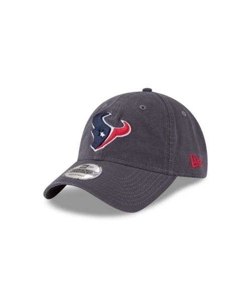 New Era Houston Texans NFL Graphite Core Classic 9TWENTY Adjustable Strapback Hat Graphite