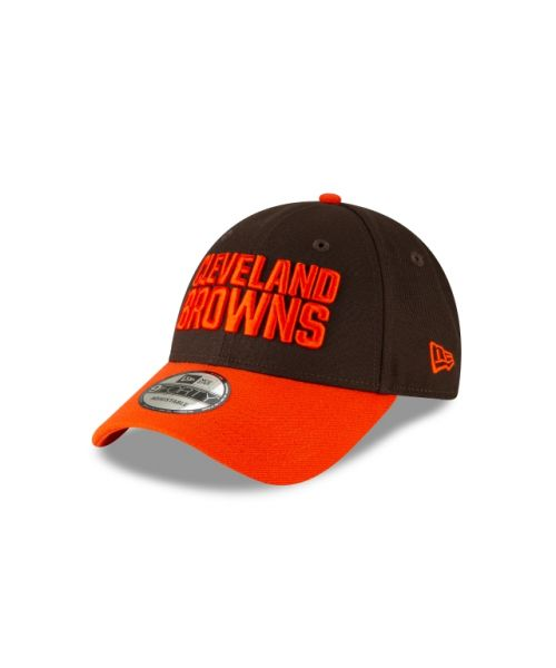 New Era Cleveland Browns The League 2TONE 9FORTY Velcroback Adjustable Brown Orange Hat