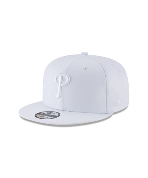 New Era Philadelphia Phillies Basic 9FIFTY Snapback Adjustable All White Hat