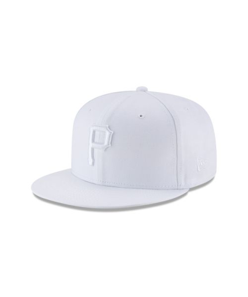 New Era Pittsburgh PIrates Basic 9FIFTY Snapback Adjustable All White Hat