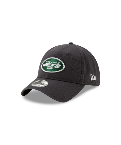 New Era New York Jets NFL Graphite Core Classic 9TWENTY Adjustable Strapback Hat Graphite
