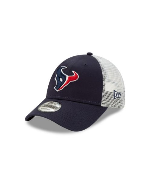 New Era Houston Texans NFL Trucker 9FORTY Adjustable Snapback Hat Navy Blue