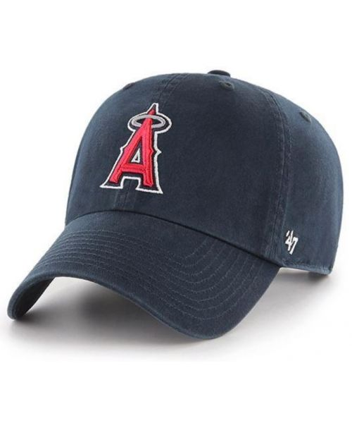 '47 Brand Los Angeles Angels MLB Clean Up Adjustable Strapback Hat Navy Blue