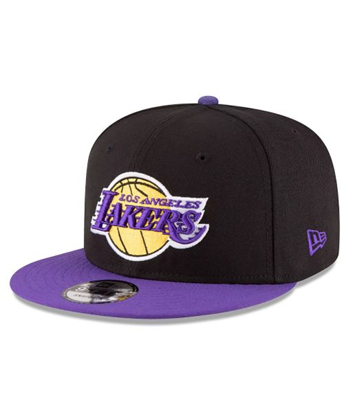 New Era Los Angeles Lakers NBA Champions Side Patch 2TONE 9FIFTY Snapback Black Purple Hat Adult