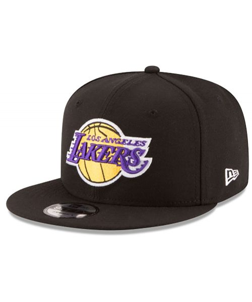 New Era Los Angeles Lakers NBA Champions Side Patch 9FIFTY Snapback Black Hat Adult