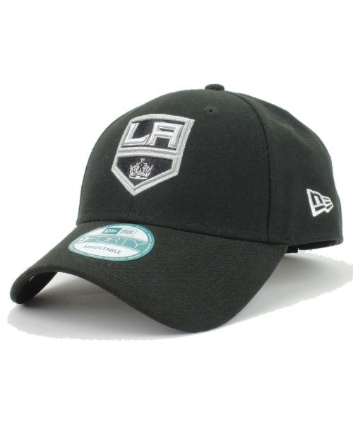 new styles b7ce5 51c55 New Era Los Angeles Kings NHL The League 9FORTY Velcroback Hat Black