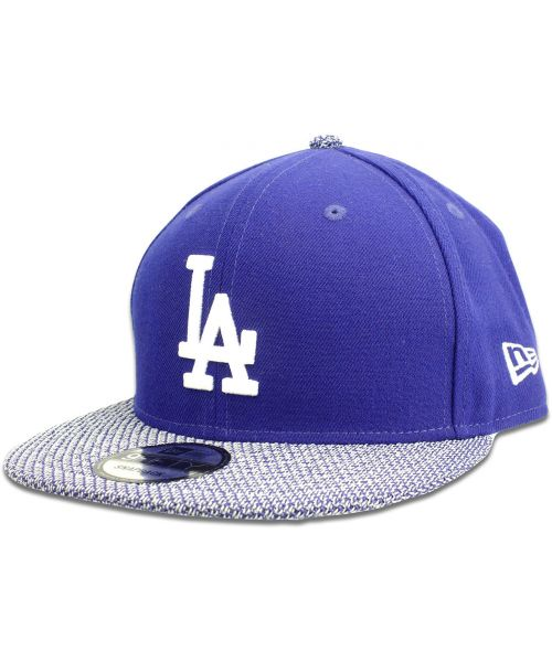 reputable site 2f896 0bf80 New Era Los Angeles Dodgers MLB Authentic Knit Vize 9FIFTY Snapback Hat  Royal Blue White Blue Knit