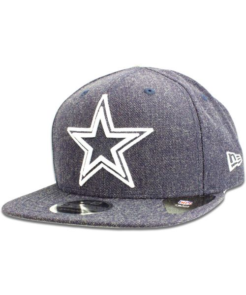 c626e359a8a New Era Dallas Cowboys NFL Heather Hype 9FIFTY Snapback Hat Heather Navy