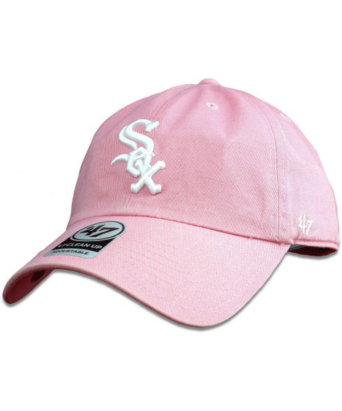 '47 Brand Chicago White Sox MLB Clean Up Adjustable Womens Hat Pink