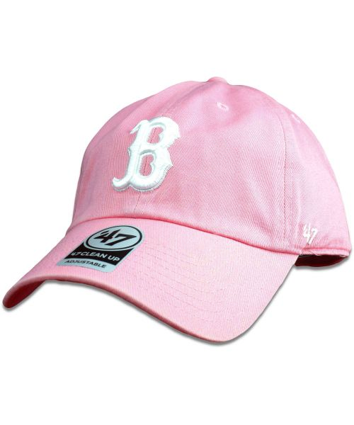 abd6ea8e8d0  47 Brand Boston Red Sox MLB Clean Up Strapback Hat Pink