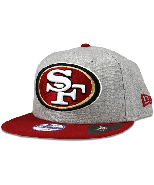 New Era San Francisco 49ers NFL Jr Heather Grand Youth 9FIFTY Snapback Hat  Heather Gray Red 459ed2648