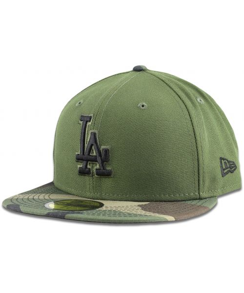 New Era Los Angeles Dodgers MLB League Basic Camo 59FIFTY Fitted Hat Green