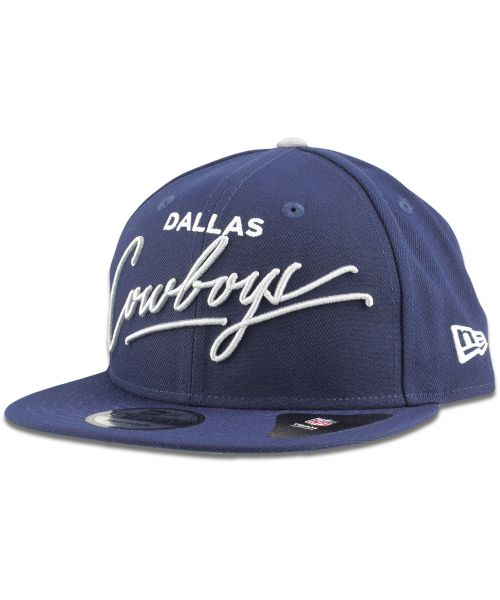 New Era Dallas Cowboys NFL Scripted Turn 9FIFTY Snapback Hat Navy Blue