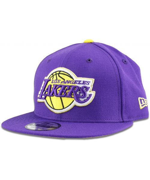 New Era Los Angeles Lakers NBA Triumph Turn OTC 9FIFTY Snapback Hat Purple Gold