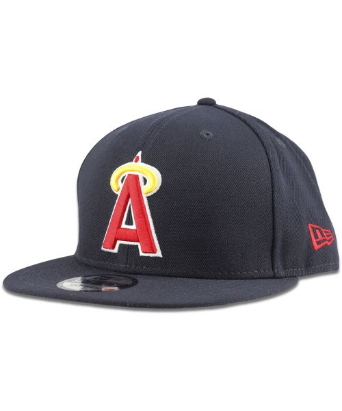 New Era Los Angeles Angels MLB Basic COOP 2HIT 1984 9FIFTY Snapback Hat Navy Blue