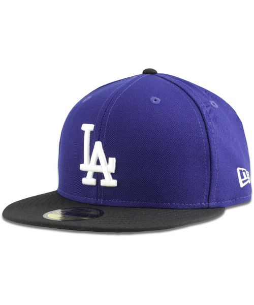 New Era Los Angeles Dodgers MLB League Basic Two Tone 59FIFTY Fitted Hat Blue Black