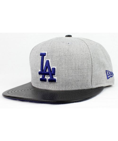 new product 07fea cedf4 New Era Los Angeles Dodgers MLB Authentic Blend Beat 9FIFTY Snapback Hat  Heather Gray Black